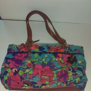 Sakroots Blue Floral Purse Shopper Tote Pockets